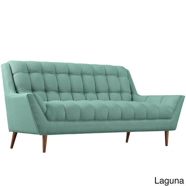 response fabric mid century tufted loveseat free shipping today