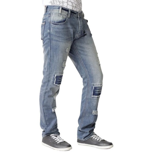 Jaywalker Mens Patchwork Relaxed Jeans