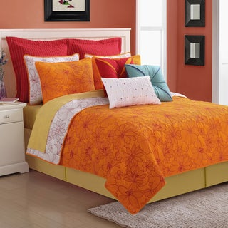 Martika Floral 3-piece Cotton Quilt Set by Fiesta - Thumbnail 0