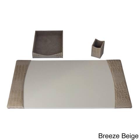 Protacini Italian Patent Leather 3-Piece Desk Set