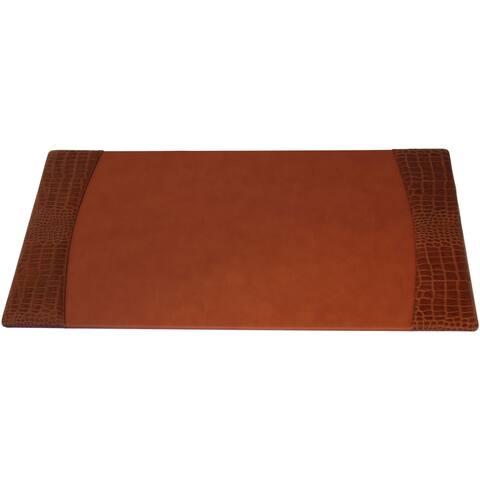 Protacini Italian Patent Leather 34 x 20 Side-Rail Desk Pad