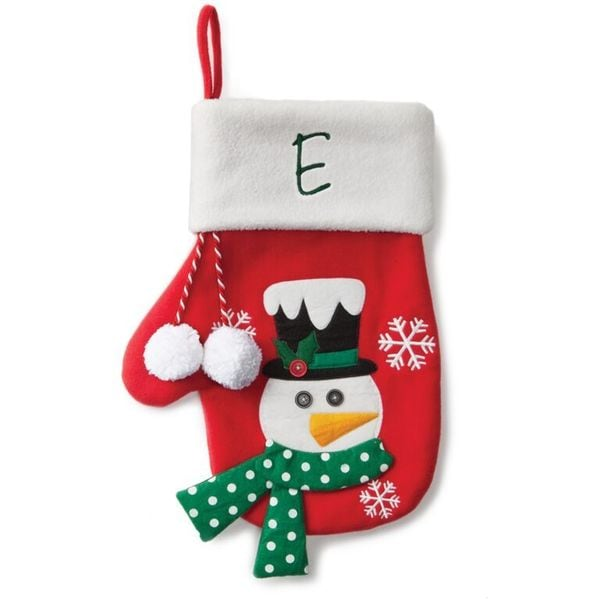 Shop Snowman Personalized Red Mitten Stocking Free