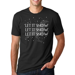 Men's Let It Snow Let It Snow Cool Holiday Crow Black Cotton T-shirt