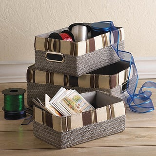 Boronia 3 Stacking Nesting Baskets