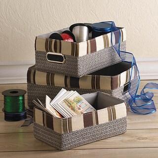 Boronia 3 Stacking Nesting Baskets