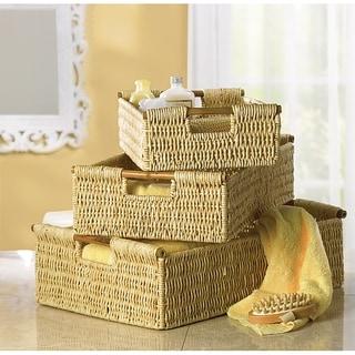 Weaved Corn Storage Nesting Baskets