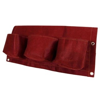 BloemBagz 24-inch 3-Pocket Union Red Rail Planter
