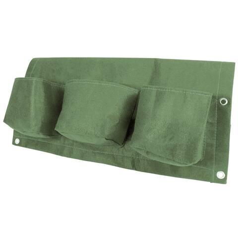 BloemBagz 24-inch 3-Pocket Living Green Rail Planter