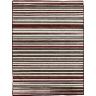 Bonny Doon Striped Design Flat Weave Area Rug (2' x 3')