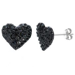 Pori 14k White Goldplated Crystal Heart Stud Earring|https://ak1.ostkcdn.com/images/products/10868712/P17906532.jpg?impolicy=medium