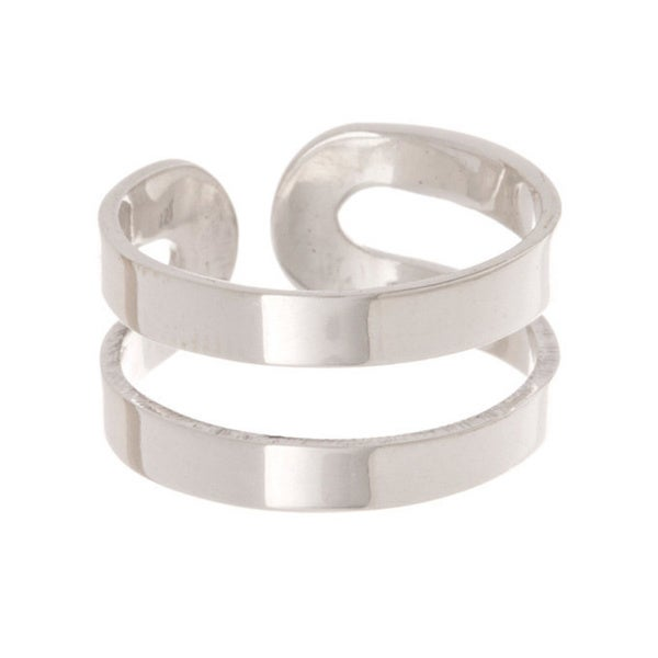 Pori Sterling Silver 2-Bar Cuff Ring