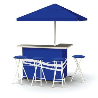 Best of Times Deluxe Bar in Classic Colors with Stools and Umbrella