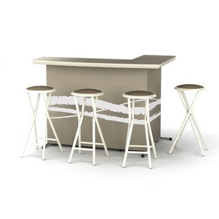 Best of Times Portable Patio Bar with Stools in Classic Colors
