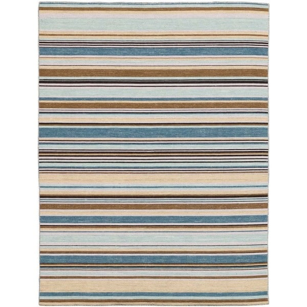 Bonny Doon Striped Design Flat Weave Area Rug - 2' x 3'