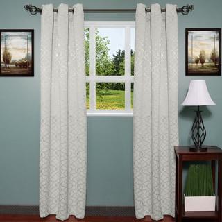 Luxury Grommet Mid-Weight Jacquard Curtain Panel Pair - 76 x 84