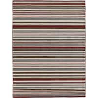 Bonny Doon Striped Design Flat Weave Area Rug (8' x 10') - 8' x 10'
