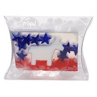 Primal Elements Handmade Vegetable Glycerine Soap Political Series (Democrat or Republican)