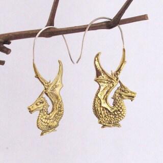 Dragon by Spirit Tribal Fusion Earrings (Bali)
