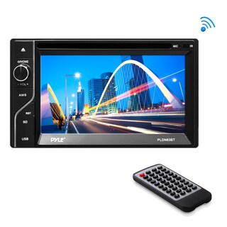 Pyle PLDN63BT 6.5 Inch Double Din Bluetooth Touch-Screen Monitor - black