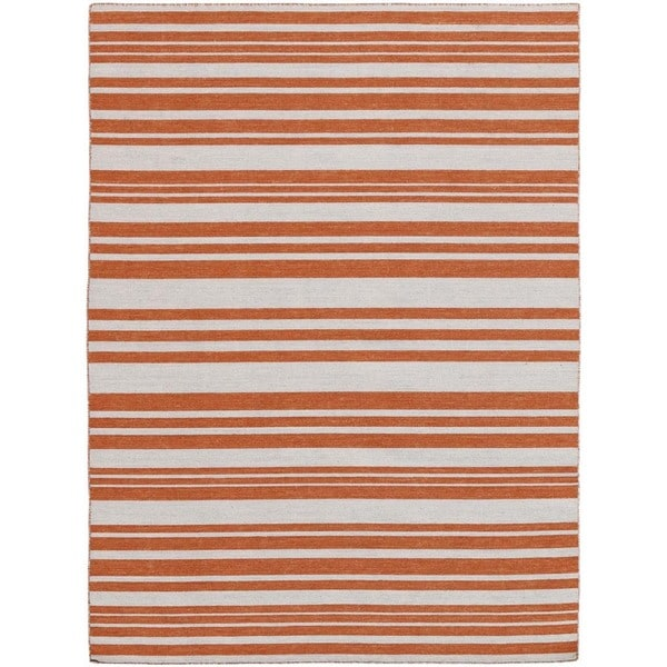 Bonny Doon Striped Design Flat Weave Area Rug (4' x 6')
