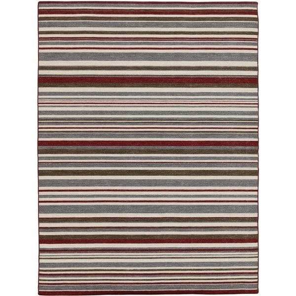 Bonny Doon Striped Design Flat Weave Area Rug - 4' x 6'