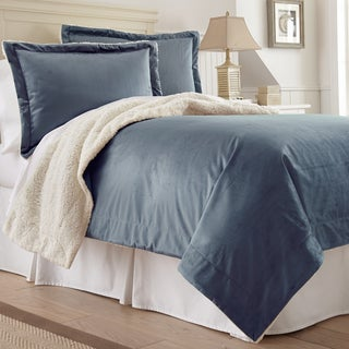 Amraupur Overseas Serta 3-piece Mink/ Sherpa Comforter Set