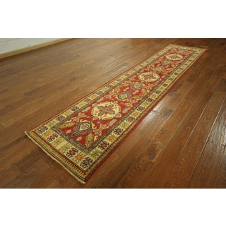 New Long Super Kazak Runner Red/ Ivory Hand-knotted S607 Rug S607 (2'8 x 11'5)