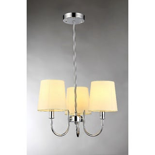 Aspen 3-light Off-white 18-inch Fabric Chandelier