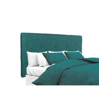 MJL Furniture Ali Button Tufted Key Largo Zenith Teal Upholstered Headboard