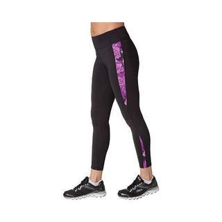 Women's Fila Streamline Long Tight Black/Purple Rose Print