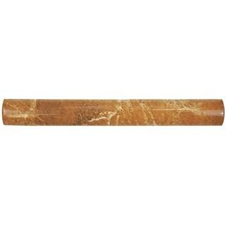 SomerTile 1x8-inch Callista Arena Beige Ceramic Pencil Trim Wall Tile (Pack of 15)