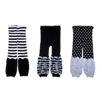 Crummy Bunny Black, Grey and White Kids Leggings (Set of 3)