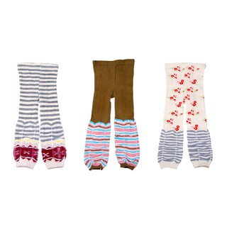 Crummy Bunny Stripes and Cherries Girls Leggings (Set of 3)