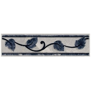 SomerTile 2x8-inch Callista Gris Ceramic Listello Trim Wall Tile (Pack of 10)