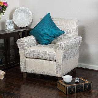 Brunswick Patterned Fabric Club Chair by Christopher Knight Home