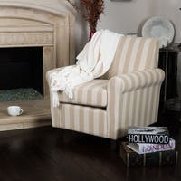 Brunswick Stripe Fabric Club Chair by Christopher Knight Home