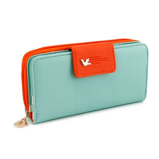Gearonic Fashion Women's PU Leather Long Card Holder Clutch/Wallet (Option: Green)