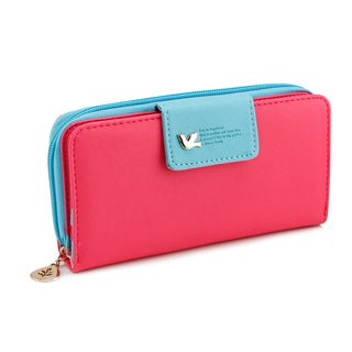 Gearonic Fashion Women PU Leather Cute Clutch Long Card Holder Wallet