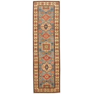 Herat Oriental Afghan Hand-knotted Tribal Kazak Wool Runner (2'8 x 9'3)