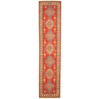 Herat Oriental Afghan Hand-knotted Tribal Kazak Wool Runner (2'6 x 11'4)