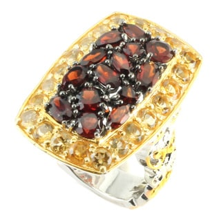 One-of-a-kind Michael Valitutti Mozambique Garnet & Citrine Ring