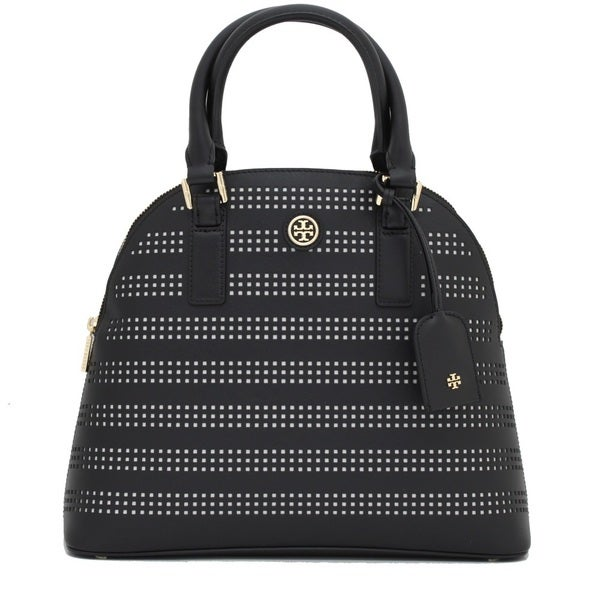 53a170d2dd3a Shop Tory Burch Robinson Perforated Dome Satchel - On Sale - Free ...