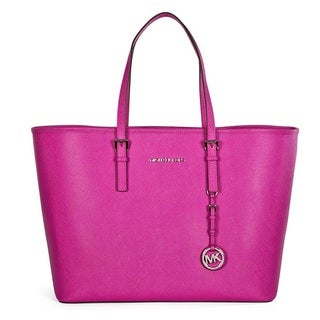 Michael Kors Jet Set Travel Fuschia Medium Tote Bag