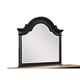 Ebony Black Distressed Arch Mirror