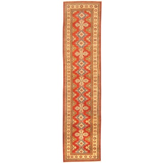 Herat Oriental Afghan Hand-knotted Tribal Kazak Wool Runner (2'9 x 11'9)