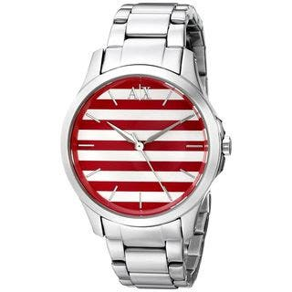 Armani Exchange Women's AX5232 'Smart' Striped Stainless Steel Watch|https://ak1.ostkcdn.com/images/products/10873177/P17910481.jpg?impolicy=medium