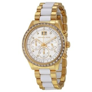 Michael Kors Women's MK6189 'Brinkley' Chronograph Crystal Two-Tone Stainless Steel Watch