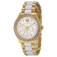 Michael Kors Women's  'Brinkley' Chronograph Crystal Two-Tone Stainless Steel Watch