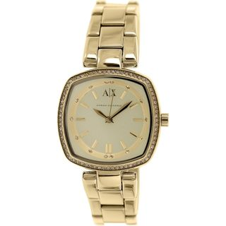 Armani Exchange Women's AX4284 'Smart' Crystal Gold-Tone Stainless Steel Watch