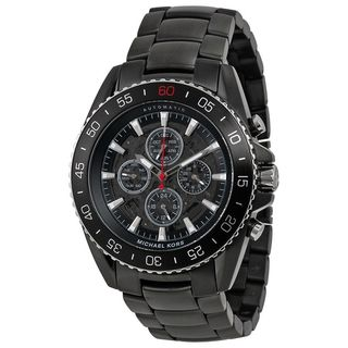 Michael Kors Men's MK9012 'Jetmaster' Chronograph Automatic Black Stainless Steel Watch